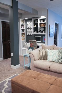 Part of Mandy's finished basement from House of Rose