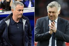 A combination picture shows Real Madrid's Portuguese coach Jose Mourinho (L) and Paris Saint Germain's Italian coach Carlo Ancelotti. Paris Saint-Germain coach Carlo Ancelotti confirmed on May 19 that he wants to leave the French champions to take over at Real Madrid. Real Madrid president Florentino Perez stated on May 20, 2013 that he had not reached an agreement with any coach to succeed Mourinho who will leave Real Madrid at the end of the season