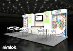 Nimlok creates custom display solutions and food industry exhibits. For Dulces Jovy, we built a trade show booth solution to showcase their brand and products.