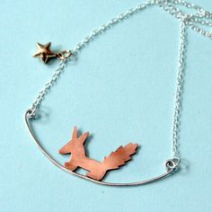 Tamed Fox from the LIttle Prince Sterling Necklace by bLuGrnDesign, $58.00