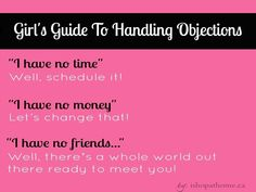 Direct Sales and Network marketing guide to handling sales objections. #directsales #networkmarketing #advertising