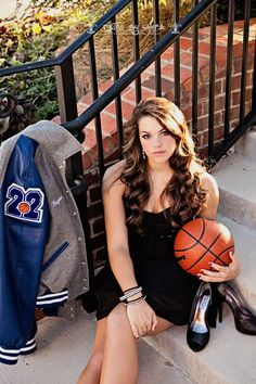 Basketball Senior Picture. But with a soccer ball.