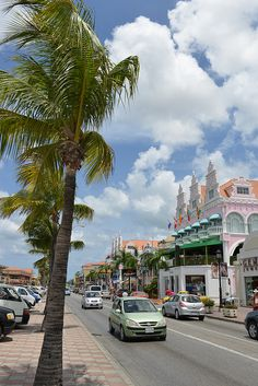 Aruba. Downtown Oranjestad.