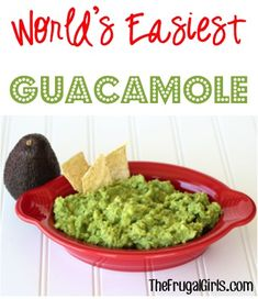 World's Easiest Guacamole Recipe! ~ at TheFrugalGirls.com ~ craving a quick fix of guacamole?  This easy avocado recipe is perfect for Taco Tuesday! #recipes #thfrugalgirls