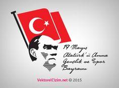 Vektörel Çizim | 19 Mayıs Atatürk'ü Anma Gençlik ve Spor Bayramı