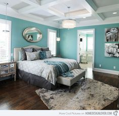 A lovely combination of toned blue and gray! The color scheme creates a modern flair with soothing yet cool atmosphere.
