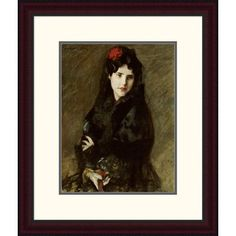 Global Gallery 'Mrs. ChaseiIn Spanish Costume' by William Merritt Chase Framed Painting Print Size:
