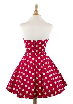 #Ixia Mini Polka Dots Fold Over Pinup Dress -  Buy New: $46.00