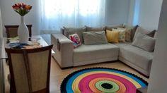 Tapete de croche em cores alegres! <br>Pode ser feito nas cores de sua decoração.. <br>Medida 1,60 de diametro <br>Outras medidas consultar valor