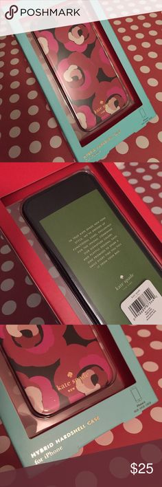 NWT Kate Spade iPhone 6 case NWT Kate Spade deco rose hardshell iPhone 6/6S case in shades of red, pink, black and cream.  Front of case has a black border.  There are slight scratches to the clear part of the packaging (as seen in pic #1).  Case itself is in perfect condition. kate spade Accessories Phone Cases