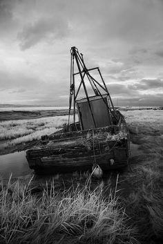 Marsh Fishing Boat Wreck by David Firth Photo-Graphics, via Flickr