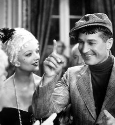 """Myrna Loy and Maurice Chevalier in """"Love Me Tonight"""""""