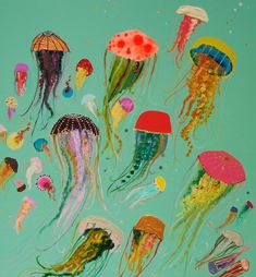 Jellyfish - Oil Painting
