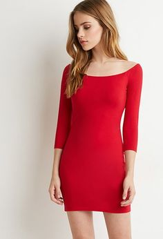 Off-the-Shoulder Bodycon Dress | Forever 21 - 2000142862