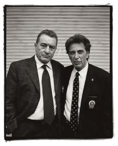 Robert Dinero & Al Pacino by Kevin Cummings and Estevan Oriol
