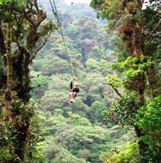 Costa Rica Rainforest zip line....Yeah! I wanna do that!