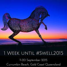 Just #1week before #Swell2015 #Sculpture #Music #Workshops #masterclass #buskers #instameet #familyfun #free #festival #CurrumbinBeach #GoldCoast #queensland #Australia #AndyScott #Arabesque #Horse by swellsculpture http://ift.tt/1X9mXhV