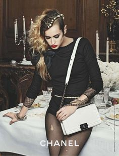 Alice Dellal for Chanel, 2012