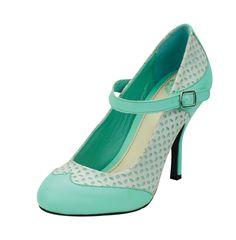 T.U.K. tuk Schuhe Shoes High Heels Pumps Rockabilly Bombshell mint türkis