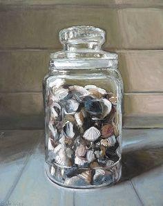 pot schelpen / jar with shells http://www.sergedevries.nl/project/pot-met-schelpen/