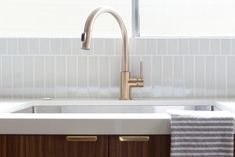 Delta Faucet Trinsic Single Handle Pull-Down Kitchen Faucet: Remodelista Minimal Kitchen Design, Kitchen Remodel, Interior Deisgn, Delta Faucets, Kitchen Faucet, Minimalist Kitchen, Farmhouse Sink Faucet, Sink, Kitchen Design