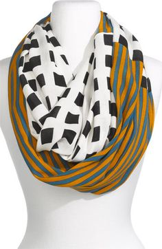 These mixed print scarves are great!