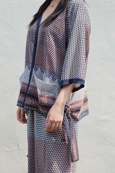 2017SS Blacksheep Look No.10 chiffon tunic blouse detail