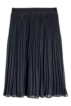 Pliseerattu hame - Tummansininen - Ladies   H&M FI