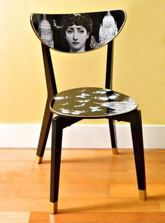 How To: Turn an IKEA Dining Chair Into a Fornasetti Work of Art » Curbly   DIY Design Community