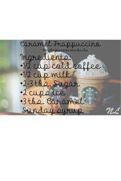 "Starbucks More ""caramel frapp recipe"" Starbucks Frappuccino, Secret Starbucks Drinks, Starbucks Coffee, Iced Coffee, Coffee Break, Starbucks Diys, Sweet Coffee, Morning Coffee, Frappachino Recipe"