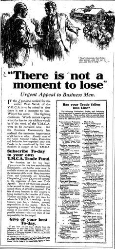 YMCA. 24 December, 1917