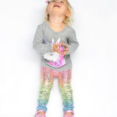 Polyster &Spandex Imported Great for casual, Daily, party or photo shoot, also a great idea for a baby show gifts Gender:Girls Pattern Type:Printing Both hand wash and machine wash is OK Size: Recommend Years Label CM Recommend Years Ww Online, Baby Coming, Your Girl, Kids Girls, Graphic Sweatshirt, Rainbow, Accessories Online, Colorful, Leggings