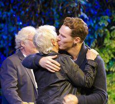 Benedict + Dame Judi Dench - Hay Festival