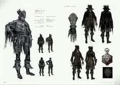Bloodborne Concept Art - Djura & Ashen Hunter Attire Concept Art