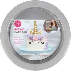 Rosanna Pansino by Wilton Non-Stick Round Cake Pan, Baking Utensils, Baking Pans, Cake Baking, 6 Cake, No Bake Cake, Round Cake Pans, Round Cakes, Rosanna Pansino Nerdy Nummies, Diy Unicorn Cake
