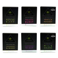 six award winning tea in luxury teabags in a gift box. Ideal gift for anyone. Tea Gift Sets, Tea Gifts, Ginger Tea, Lemon Grass, Matcha, Herbalism, Trends, Box, Flowers