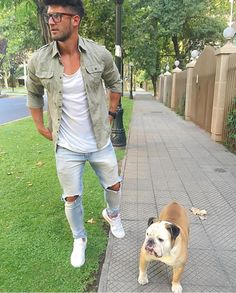 Street style featuring man's best friend. | davidshadpour.com