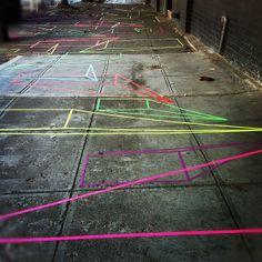 neon tape street art #seattle