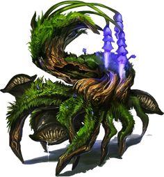 Unknown Artist, minor photoshop work by Brumby Forest Creatures, Wild Creatures, Woodland Creatures, Fantasy Creatures, Mythical Creatures, Fantasy Monster, Monster Art, Creature Concept Art, Creature Design