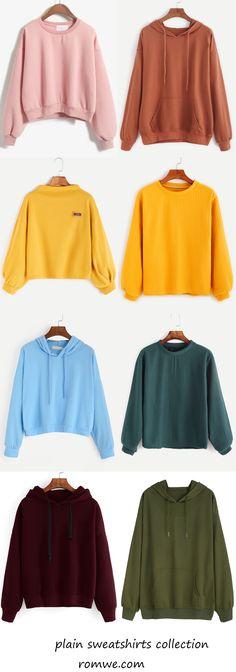 plain sweatshirts collection 2017 - romwe.com