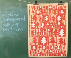 Love this handcrafted screen print wrapping paper! Would love to wrap Xmas presents with this!