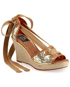 "Some of you have to get in on this: Sperry Topsider ""Palm Beach"" Glitter Wedge Sandal"