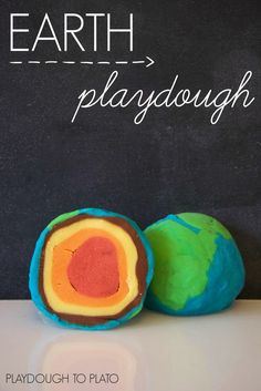 Earth Crust and Core Play Dough for Earth Day!
