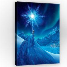 Tableau film La Reine des Neiges Disney - 100 x 75 cm