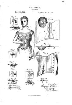1877 Corset with nursing adjustments  US patent 195,755