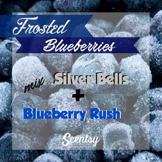 Frosted Blueberries Mixology - Flyer created by: Angela O'Hare. #smellarific