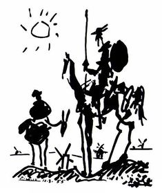 don quixote pablo picasso - inspired by don quixote by miguel de cervantes >> HOW TO ADAPT INTO TATTOO>>>>