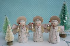 adorable vintage inspired angels from Julie Collings
