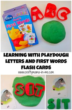 Learning with Playdough Letters and First Words Flash Cards