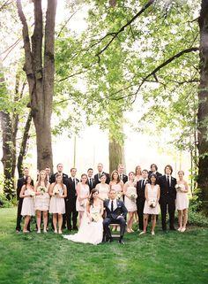 Large Bridal Party Portrait Miamiphotographer